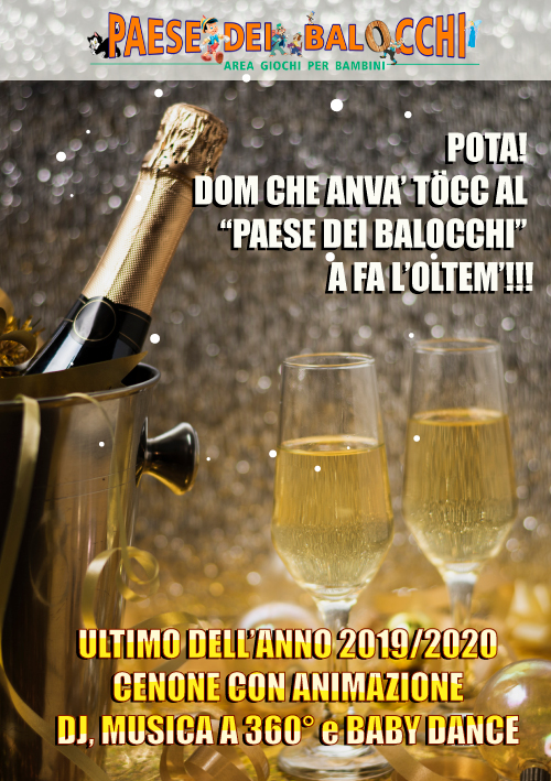 ULTIMO DELL'ANNO 2019/2020 AL PAESE DEI BALOCCHI